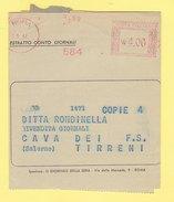 Affr. Mecc. Rossa - 1947 - Roma - Estratto Conto Giornali - Affrancature Meccaniche Rosse (EMA)