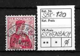 1909 HELVETIA BRUSTBILD → SBK-120, ESCHENBACH 26.VI.15 - Gebraucht