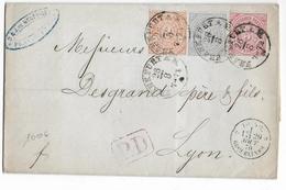 NORDDEUTSCHER POSTBEZIRK - 1870 - LETTRE De FRANKFURT Avec RARE 2Kr. PERCE EN LIGNE => LYON - ENTREE Par ERQUELINES