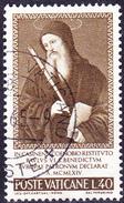 Vatikan - Benedikt Von Nursia (MiNr. 481) 1965 - Gest. Used Obl.