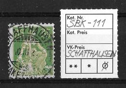 1908-1940 HELVETIA MIT SCHWERT→ SBK-111, SCHAFFHAUSEN 10.III.22 - Gebraucht