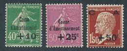 """BA-69: FRANCE: Lot Avec N°253/255** """"caisse D'amortissement"""""""