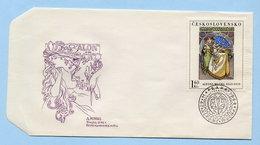 Tchécoslovaquie Enveloppe 1er Jour 1968 FDC Oeuvre De Mucha - Modern