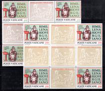 """PC581 - VATICANO 1981 , N. 688/689  ***  MNH : Blocco Detto """" VIRGILIO IN CROCE """""""