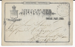 HELGOLAND - 1890 - CARTE ENTIER POSTAL Pour FRANKFURT