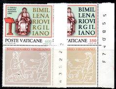 PC591 - VATICANO 1981 , La Serie Con Appendice N. 688/689  ***  MNH :  VIRGILIO