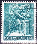 Vatikan - Bauhandwerk/Building Trade/commerce De Détail (MiNr. 495) 1966 - Gest. Used Obl.