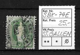 1882-1904 STEHENDE HELVETIA → SBK-74E, ST.GALLEN 1.VIII.03 - Oblitérés