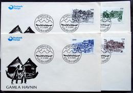 Faroe Islands  1981   MiNr.59-62    Old Torshavn      FDC   ( Lot  6288)