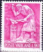 Vatikan - Schmiedekunst/Forging/forgeron  (MiNr. 498) 1966 - Gest. Used Obl.