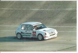 "PHOTO D'ARCHIVES : COURSE AUTOMOBILE - MONTLHERY 1986 -   "" COUPE PEUGEOT 205 GTI ""  - JEAN-CLAUDE BRAZEY - Montlhery"