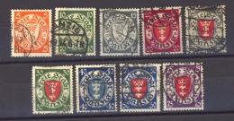 Allemagne  -  Dantzig  :  Mi  193-201  (o) - Danzig