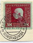 AUSTRIA FELDPOST 1915 General Issue 3 Kr. Used On Piece.  ANK/Michel 45 - 1850-1918 Empire