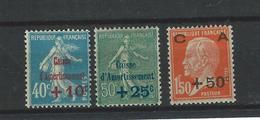 FR - 1927 - BIT - YT 246 à 248 - Série Caisse Amortissemment  - MH - FALZ - *