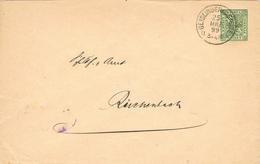 23358. Entero Postal  5 Pf GEISLINGEN (Wurtemberg) 1899 . Correo Oficial. Amtlicher Verkehr