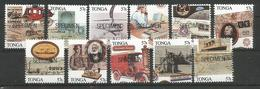TONGA - MNH - 11 Stamps Space - Transport - Famous People - SPECIMEN - Space