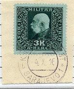 BOSNIA & HERZEGOVINA 1916 Franz Joseph 3 Kr. Used On Piece. ANK/Michel 114 - Bosnien-Herzegowina