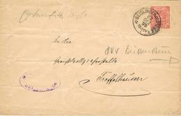 23359. Entero Postal 10 Pf GEISLINGEN (Wurtemberg) 1898 . Correo Oficial. Amtlicher Verkehr