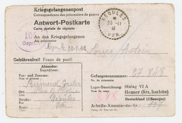 VAR CPFM PRISONNIER 1941 NEOULES RECETTE DISTRIBUTION => STALAG VI A = HEMER KREIS ISERLOHN  ( MUNSTER ) ALLEMAGNE - 1921-1960: Moderne