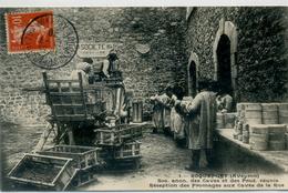 12 - ROQUEFORT - Soc Anon. Des Caves Et Prod. Réunis - Réception Des Fromages Aux Caves De La Rue - Roquefort