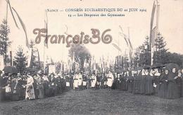 (54) Nancy - Congrès Eucharistique Du 21 Juin 1914 - Les Drapeaux Des Gymnastes - 2 SCANS - Nancy