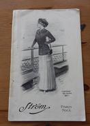 CATALOGUE DE MODE STRÖM - PARIS NICE - été 19O9 - Publicités