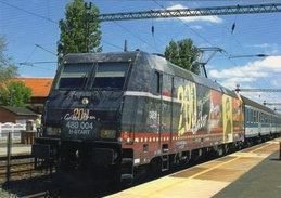 TRAXX P160 AC2 Electric Locomotive Of Hungarian Railways (MAV-START) At Station Fonyod 2014  -  CPM - Eisenbahnen