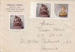56505- JEWELRY MAKING, SCULPTURE, STAMPS ON COVER, 1989, GERMANY