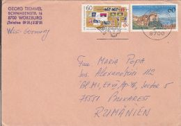 56506- GERMAN STAMPS, MEERSBURG TOWN, STAMPS ON COVER, 1989, GERMANY
