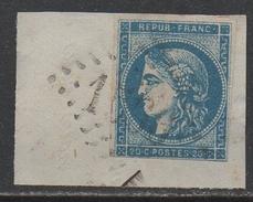 FOURCHAMBAULT - NIEVRE  / EMISSION DE BORDEAUX / 20 C. BLEU # 45C - TYPE II - REPORT 3 / COTE 82.00 EUROS (ref 7461c)