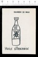 Humour Huile D'arachnide / Thème Animal Araignée Arachide  / 198-PF-12 - Vieux Papiers