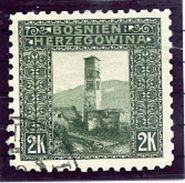 BOSNIA & HERZEGOVINA 1906 2 Kr . Perforated 9¼ Used. Michel 43C, SG 200B - Bosnia And Herzegovina