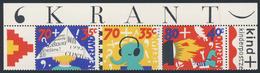 Nederland Netherlands Pays Bas 1993 Mi 1492 /4 C  YT 1456 /8 ** Child And Media / Kind Und Die Medien - Kindertijd & Jeugd
