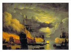 50 - SAINT VAAST LA HOUGUE - Ile De Tatihou - La Bataille De La Hougue Par Schotel - Le Goubey - Saint Vaast La Hougue
