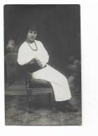 FOTO DONNA IN POSA  ANNO 1915 - FOTO G.GORINI LUGO PIAZZA XX SETTEMBRE  SU CARTA TENSI  NV FP - Persone Anonimi