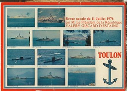 Toulon-revue Navale 11 Juillet 1976-president De La Republique-valery Giscard D'estaing-cpm - Toulon