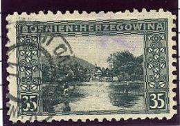BOSNIA & HERZEGOVINA 1906 35 H . Perforated 9¼ Used.  Michel 38C, SG 195B - Bosnia And Herzegovina
