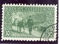 BOSNIA & HERZEGOVINA 1906 30 H . Perforated 9¼ Used.  Michel 37C, SG 194B - Bosnia And Herzegovina