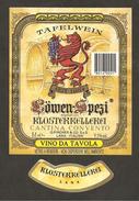 ITALIA - Etichetta Vino LOWEN-SPEZI Cantina PIRCHER Bianco Del TRENTINO-ALTO ADIGE Leone Rampante - Vino Bianco