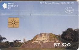 BELIZE - Altun Ha, Mayan Ruin, First Issue $20, Chip GEM, Used - Belize