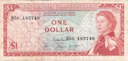 CARAIBES ORIENTALES   1 Dollar   ND (1965)   P. 13e - Caraïbes Orientales