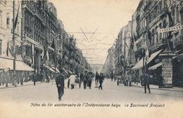 BRUXELLES = FETE DU 75 E ANNIVERSAIRE DE L'INDEPENDANCE BELGE - LE BOULEVARD ANSPACH - Fêtes, événements