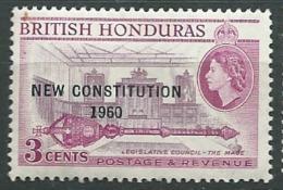 Honduras Britannique   - Yvert N°  163  **    -   Abc 19634 - Britisch-Honduras (...-1970)