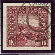 BOSNIA & HERZEGOVINA 1906 1 Kr. Imperforate  Used.   Michel 42U, SG 199C - Bosnia And Herzegovina