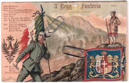 3° REGGIMENTO FANTERIA CATALANO ALFIERI REGIO ESERCITO VIAGGIATA 1924 - Regiments