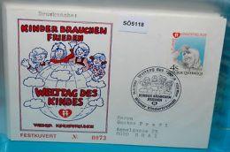 SO5118 Welttag Des Kindes, Kinderfreunde, Wien 1986 - Organizations