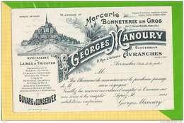 BUVARD @ Blotting Paper : Mercerie Bonneterie GEORGES MANOURY Avranches Mont St Michel - Kleidung & Textil