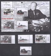 E20 2004 GIBRALTAR WAR D-DAY LANDINGS 1SET+1KB MNH