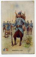 CPA 1915 Infanterie De Ligne L V C Al 2 Peintre Léon Hingre Vêtements De Travail A Jacques Molay - Uniformes