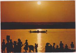AFRIQUE,FRANCE COLONIE,REPUBLIQUE CENTRE AFRICAINE,BANGUI ,OUBANGUI CHARI,pirogue,nuit - Centrafricaine (République)